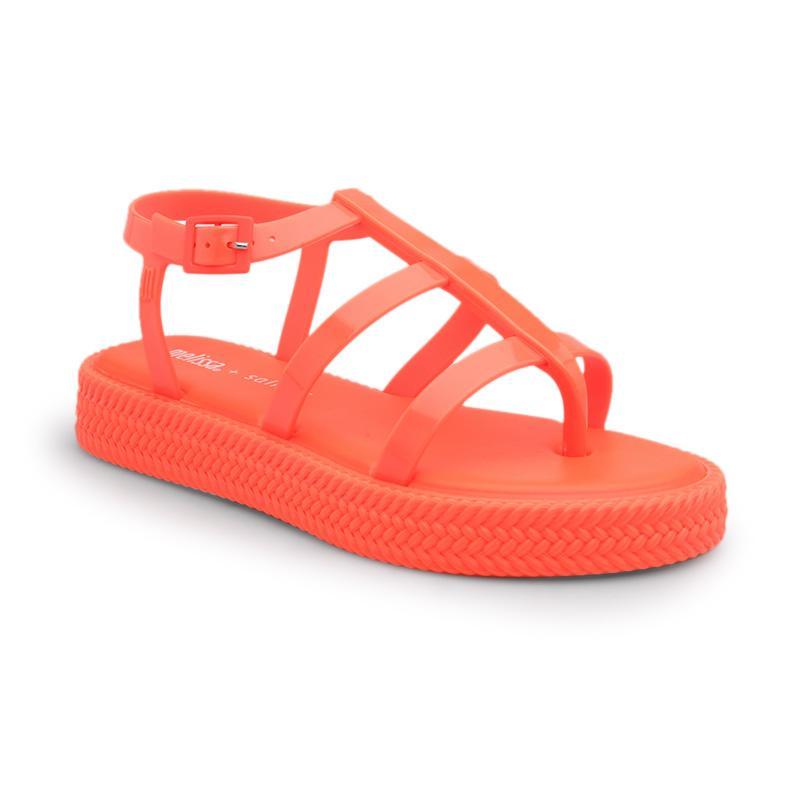 Melissa Caribe Verao Platform Salinas Ad Sandal Wanita Neon Orange