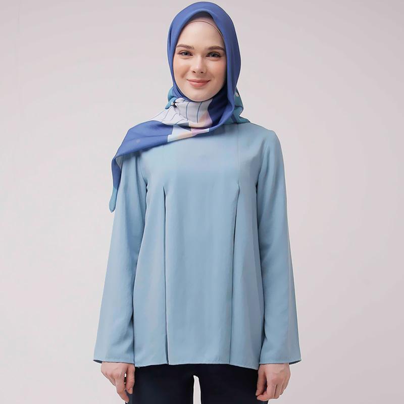 Zoya Davira Tunik Muslim Wanita - Light Blue