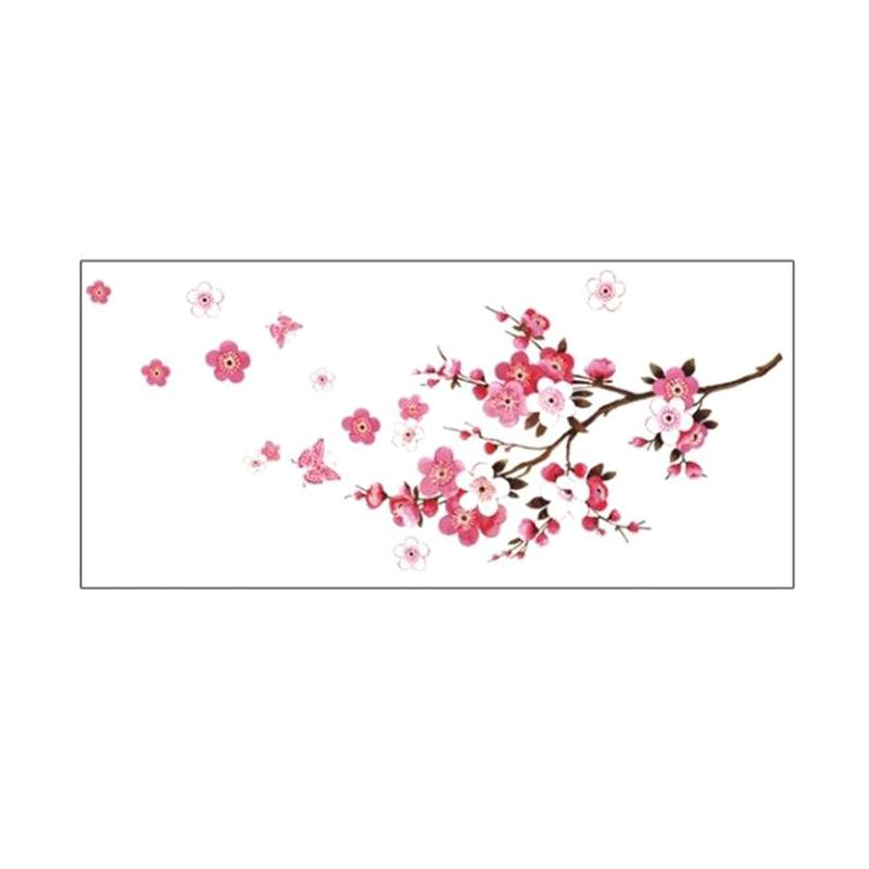 Jual Bluelans Romantic Flower Butterfly Wall Sticker Art Decal Home Bedroom Hotel Decoration Online Februari 2021 Blibli