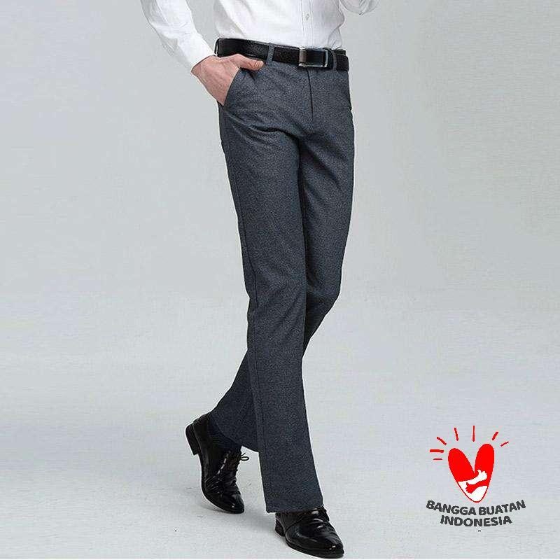 Jual Xellano Kenzo Stretch Slimfit Celana Formal Pria Online Februari 2021 Blibli