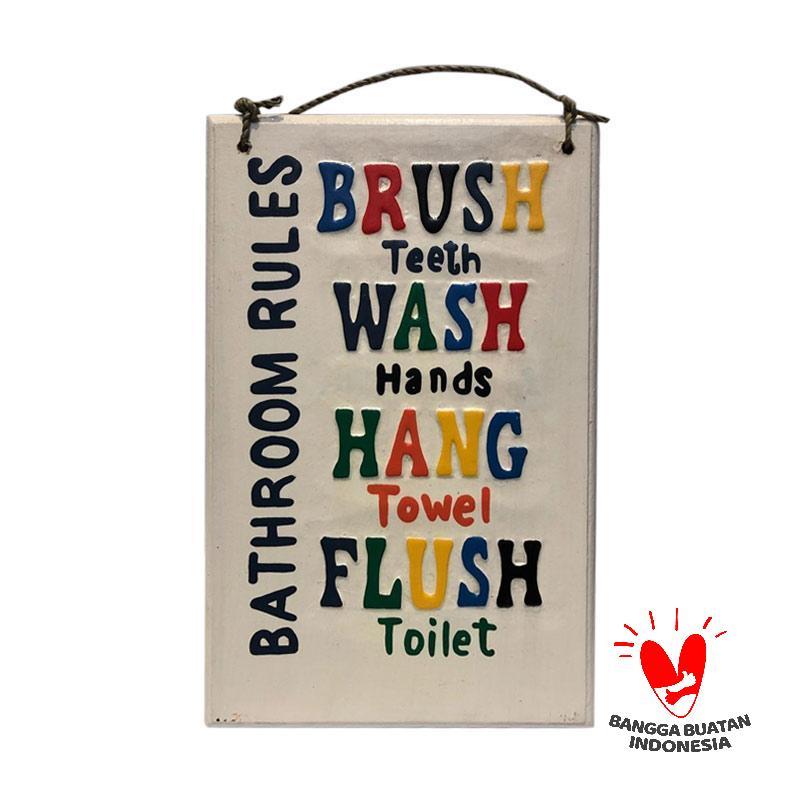 Jual Pre Order Cendana Permai Art Shop Wall Art Bathroom Rules Hiasan Dinding Kayu Pahatan 20 X 30 Cm Online Desember 2020 Blibli