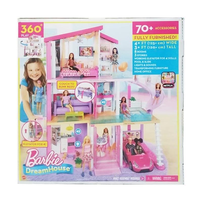 Jual Mattel Barbie Dream House Dreamhouse Rumah Boneka Barbie Online Februari 2021 Blibli
