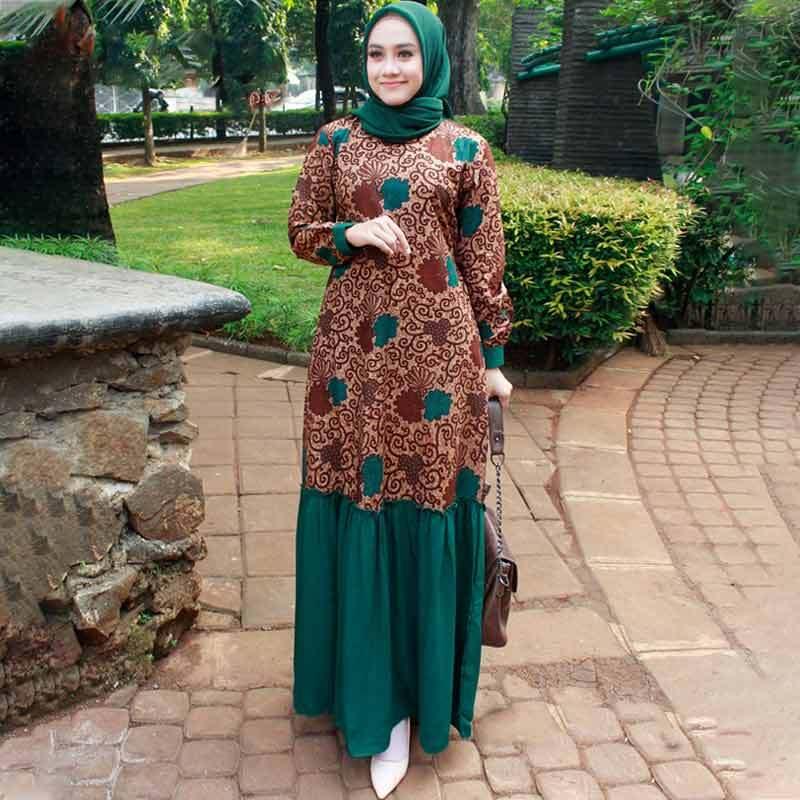 Jual Gamis Tasik Fashion Rempel Bunga Besar Batik Gamis Wanita Online Maret 2021 Blibli