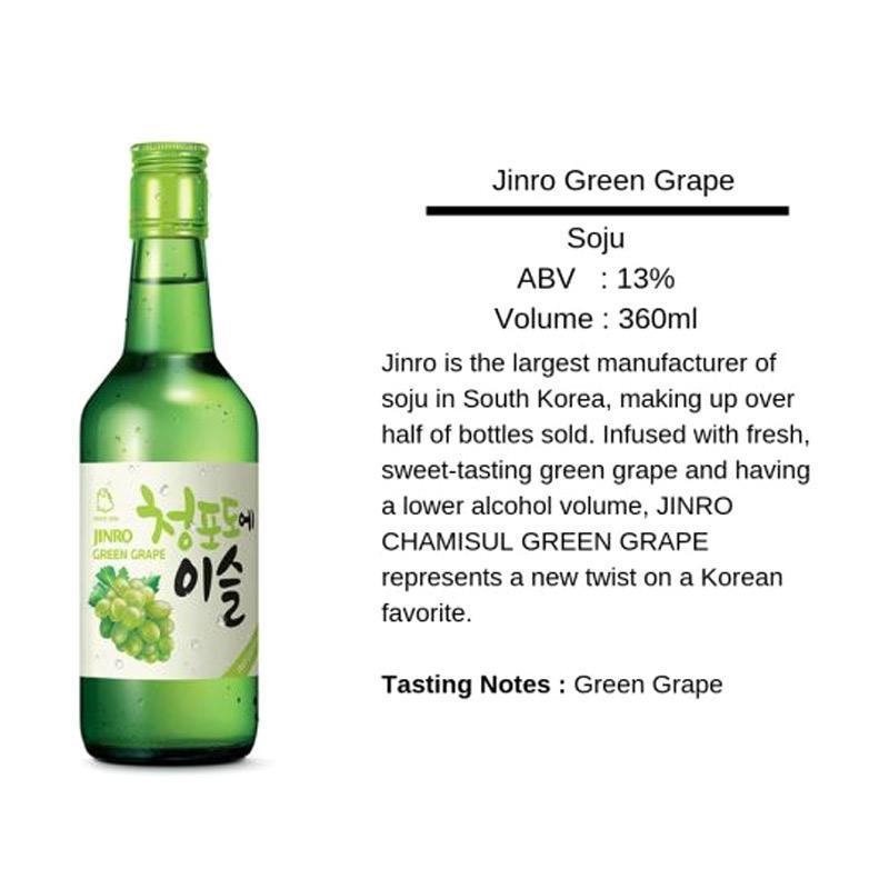 Jual Jinro Soju Greengrape Minuman Alkohol Online Desember 2020 | Blibli
