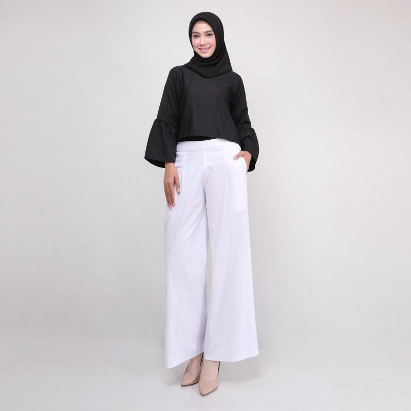 Jual Modesee Celana Kulot Katun Stretch Panjang Wanita White Putih Series Online Oktober 2020 Blibli Com