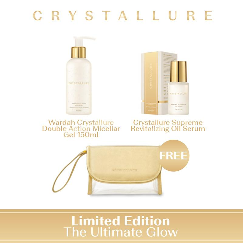 Crystallure The Ultimate Glow Set Perawatan Kulit Limited Edition