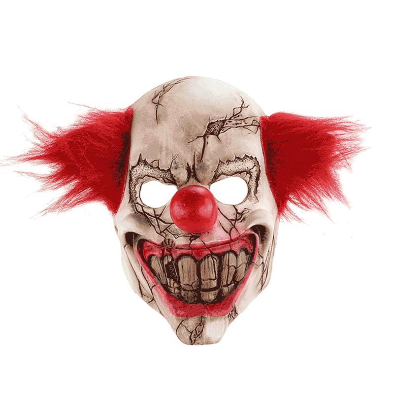 Jual Full Face Latex Mask Scary Clown Halloween Costume Evil Creepy Party Horror Prop Online Oktober 2020 Blibli Com