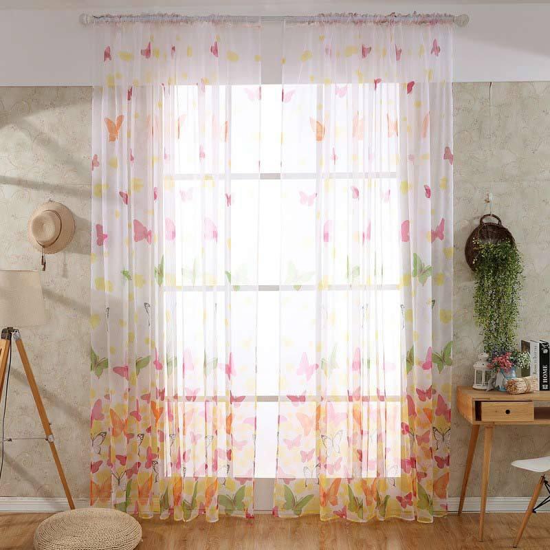 Model Gorden Terbaru 2018 Dan Harganya  jual h ikea 1 butterfly printed gauze curtain durable and