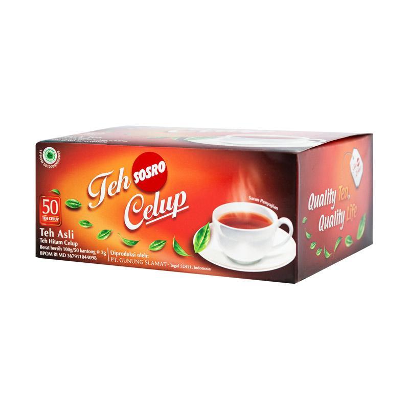 Jual Sosro Teh Hitam Celup 50 Tea Bags Online Desember 2020 Blibli