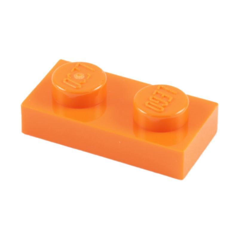 Lego 100 New Trans-Orange Plates Round 1 x 1 with Open Stud Pieces