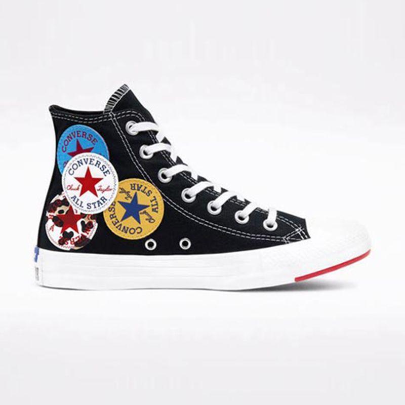 Jual Converse Chuck Taylor All Star Hi Multi Logo Women S Sneakers Shoes Online Oktober 2020 Blibli Com