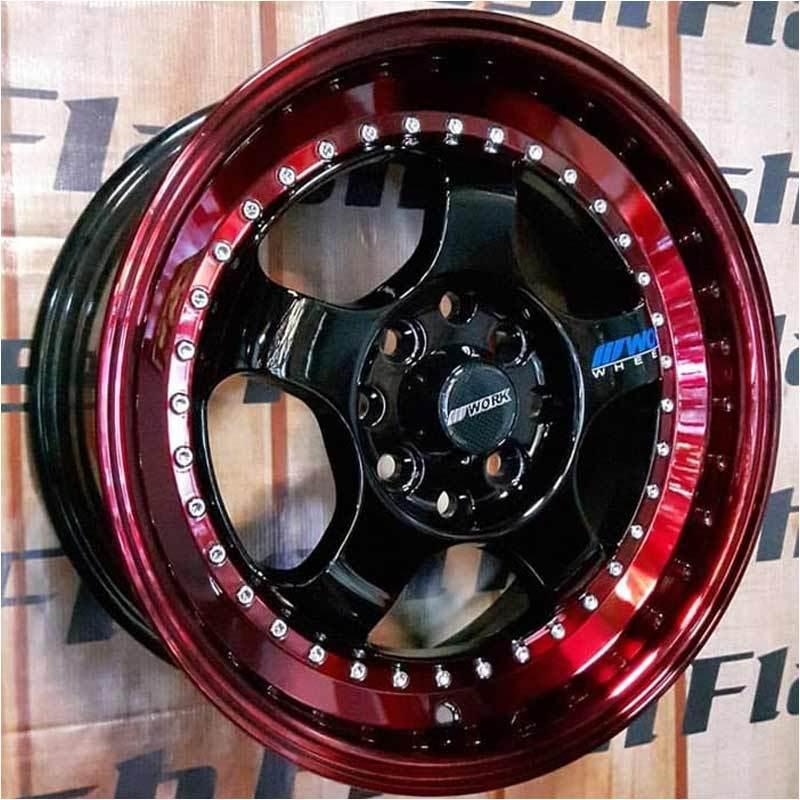 Jual Replika Work Meister Ring 15 Lips Polis Velg Mobil Red Black Red Online Februari 2021 Blibli