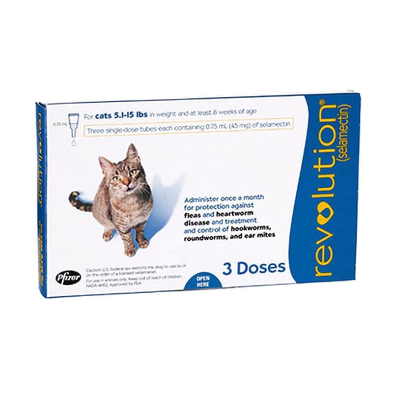 Revolution For Cats 2 7 kg Selamectin Obat Kutu Kucing
