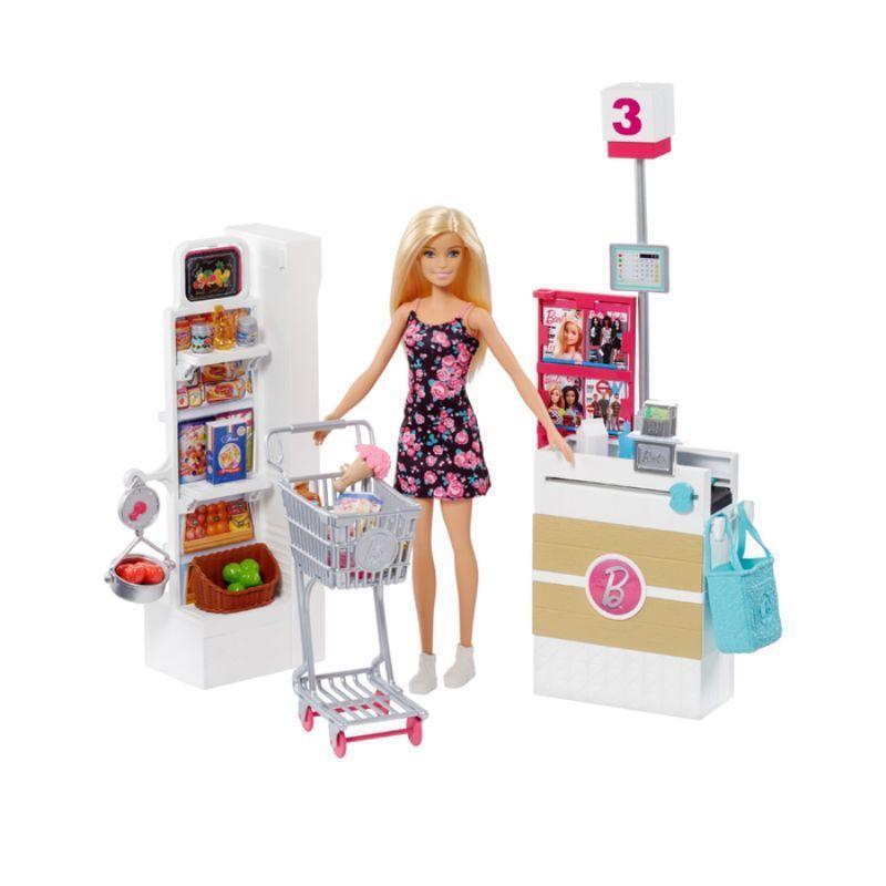 Jual Barbie Supermarket Set Boneka Permainan Toy Anak Perempuan Online November 2020 Blibli Com