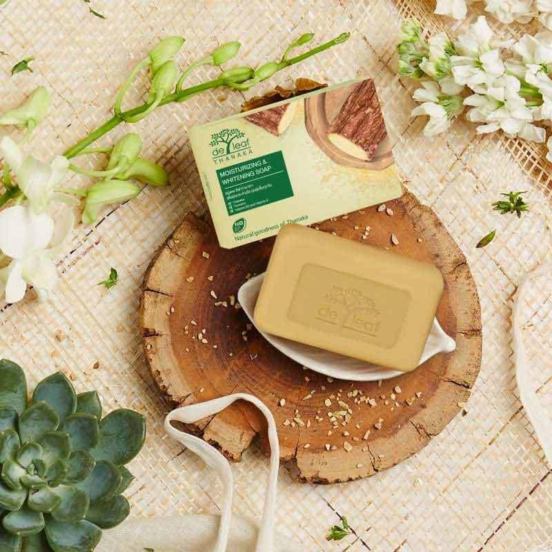 Jual De Leaf Thanaka Natural Moisturizing Whitening Bar Soap 100g Online Desember 2020 Blibli