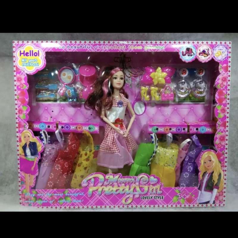 Jual Mainan Boneka Barbie Tekuk Set Anting Dan Alat Masak Online November 2020 Blibli Com