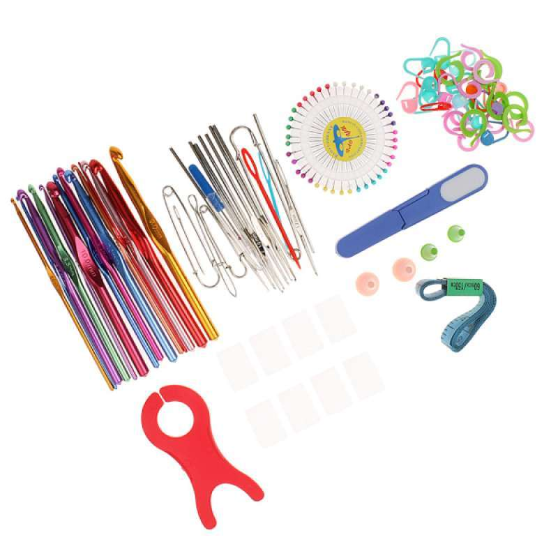 oem knitting tools crochet needle hook accessories supplies with case knit set full01
