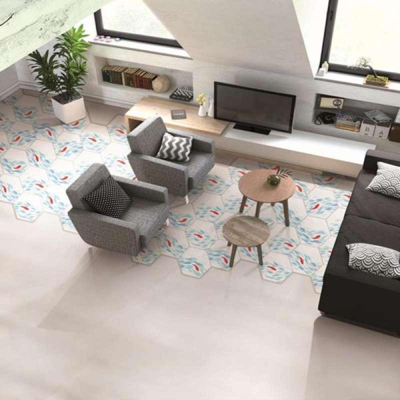 Jual 10pcs Hexagon Mosaic Stickers Transfer For Kitchen Bathroom Tiles Wall Floor Online Januari 2021 Blibli