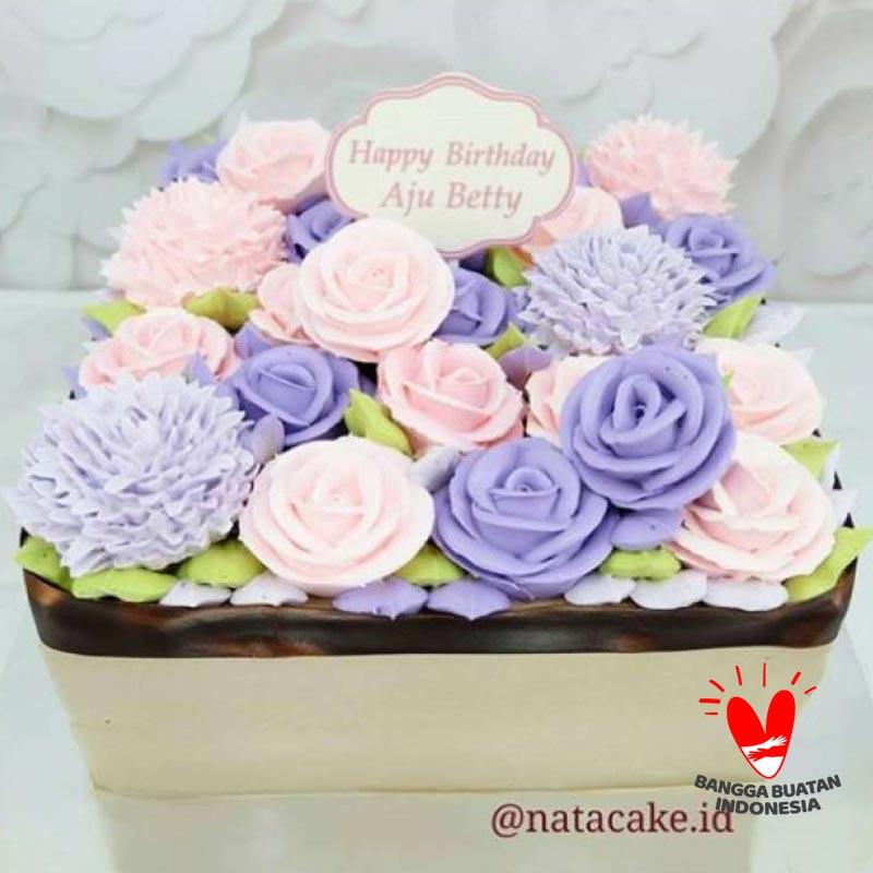 Jual Nata Cake Kue Tart Butter Cream 861 Ukuran Kotak 20 Cm Terbaru Juli 2021 Blibli
