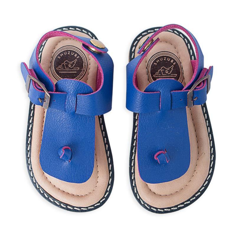 Shuzube BS-09 T Strap Sandals - Blue