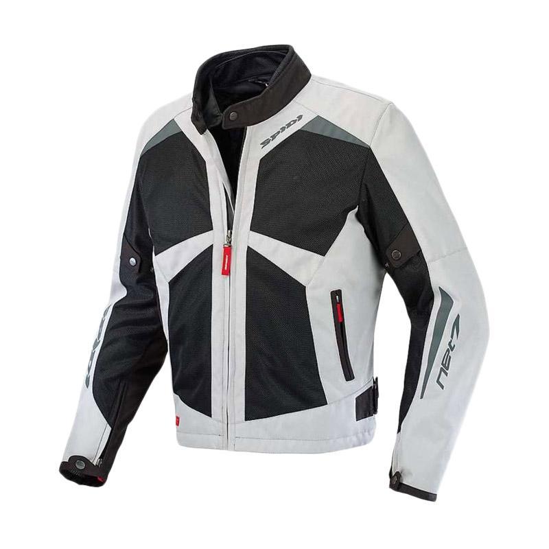 Spidi Net 7 Tex Jaket Motor - Black Grey