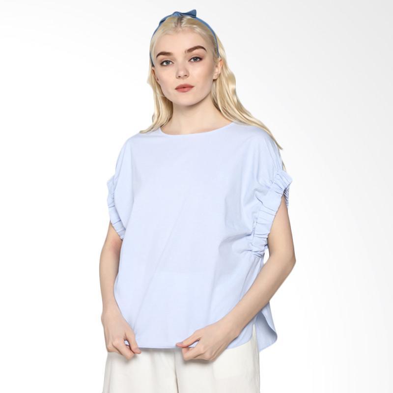 Rodeo Blouse Shirt Polos 817.0318.BLU Atasan Wanita - Blue