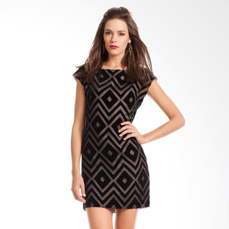 harga Trina Truk TD130009 Midi Dress - Black Blibli.com