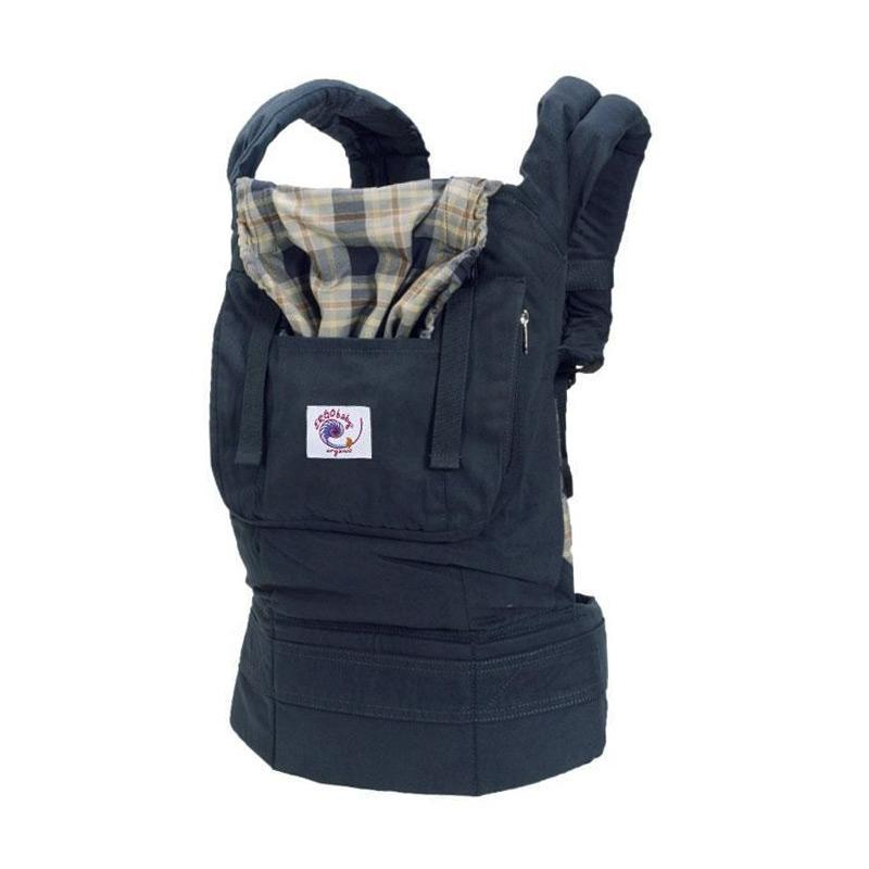 Ergobaby Carrier Organic Navy Plaid Gendongan Bayi