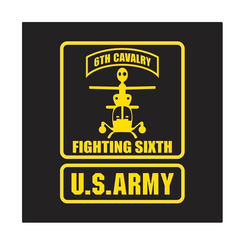 US Army 6th Cavalry Cutting Sticker