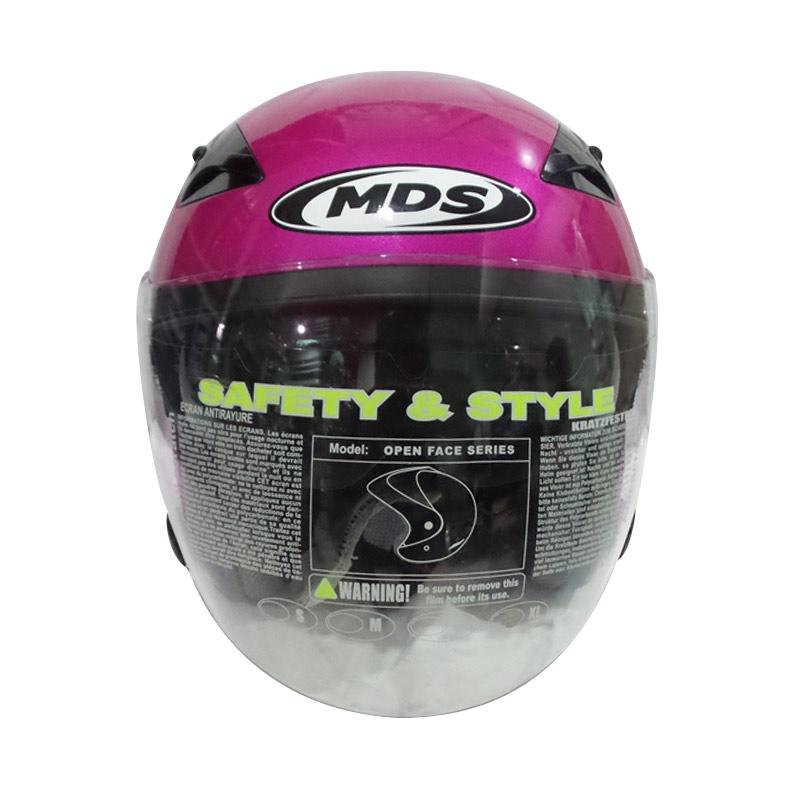harga MDS Zarra Solid Sakura Helm Half Face - Pink Blibli.com