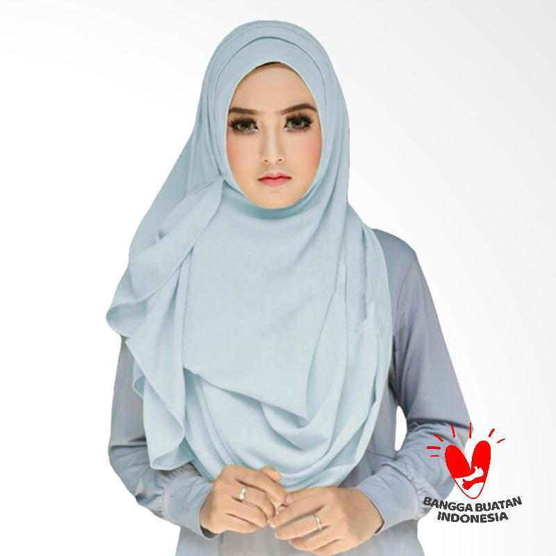 Milyarda Hijab Tazkia Kerudung Instan - Biru Muda