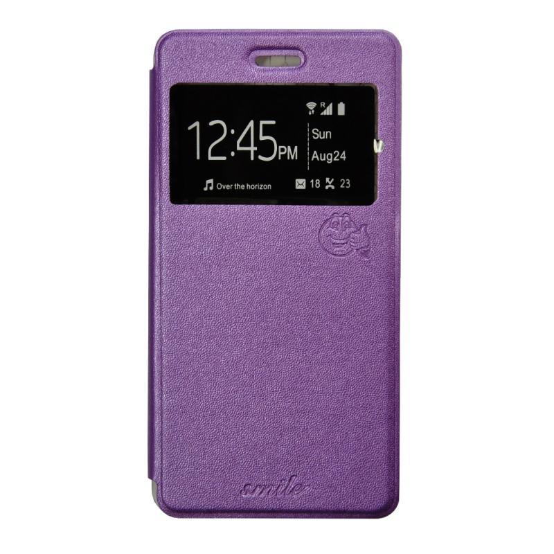 Smile Flip Cover Casing for Xiaomi mi4i - Ungu