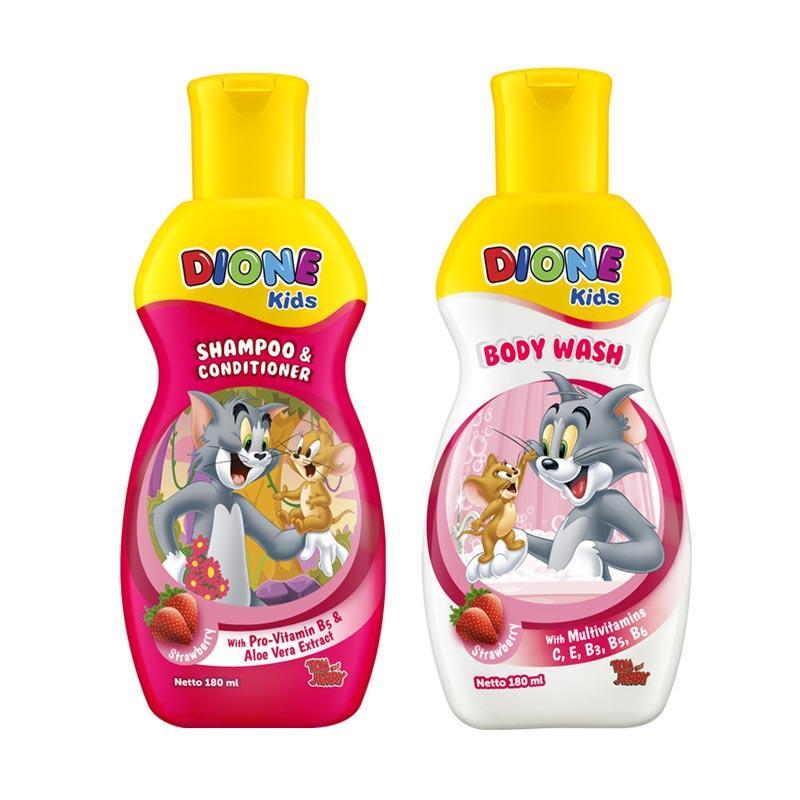 Dione Kids Paket Mandi - Strawberry [180 mL] - BERHADIAH Buku Tulis