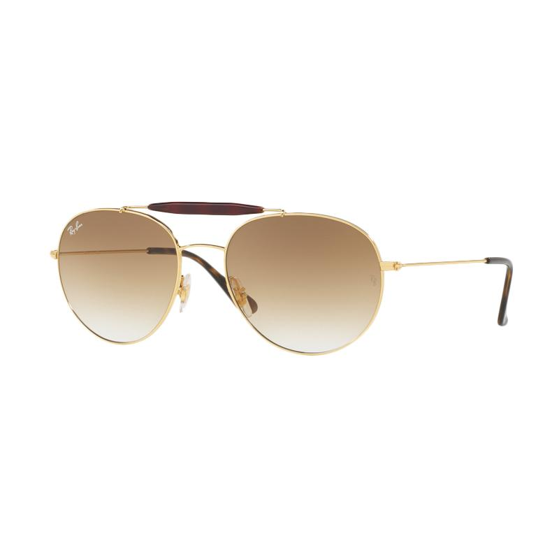 Ray-Ban Rb3540 - Gold [001/51/Size 53/Brown Gradient]