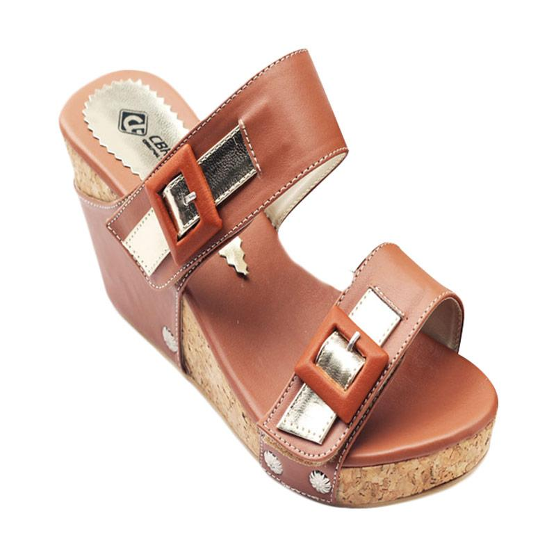 harga CBR Six Rachel Sandals Wedges - Cokelat Blibli.com