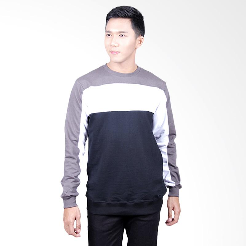 Word.O Echo Sweater Pria - Grey Black White
