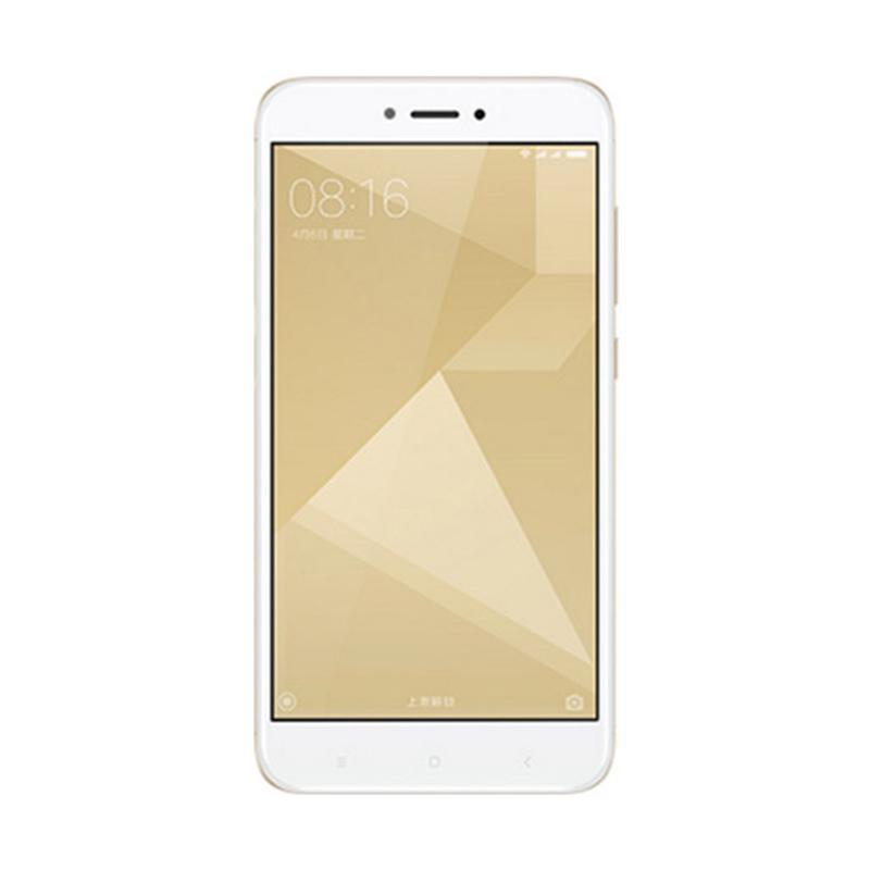 Xiaomi Redmi 4X Smartphone - Gold [16GB/2GB] - 9306833 , 15794201 , 337_15794201 , 1514000 , Xiaomi-Redmi-4X-Smartphone-Gold-16GB-2GB-337_15794201 , blibli.com , Xiaomi Redmi 4X Smartphone - Gold [16GB/2GB]
