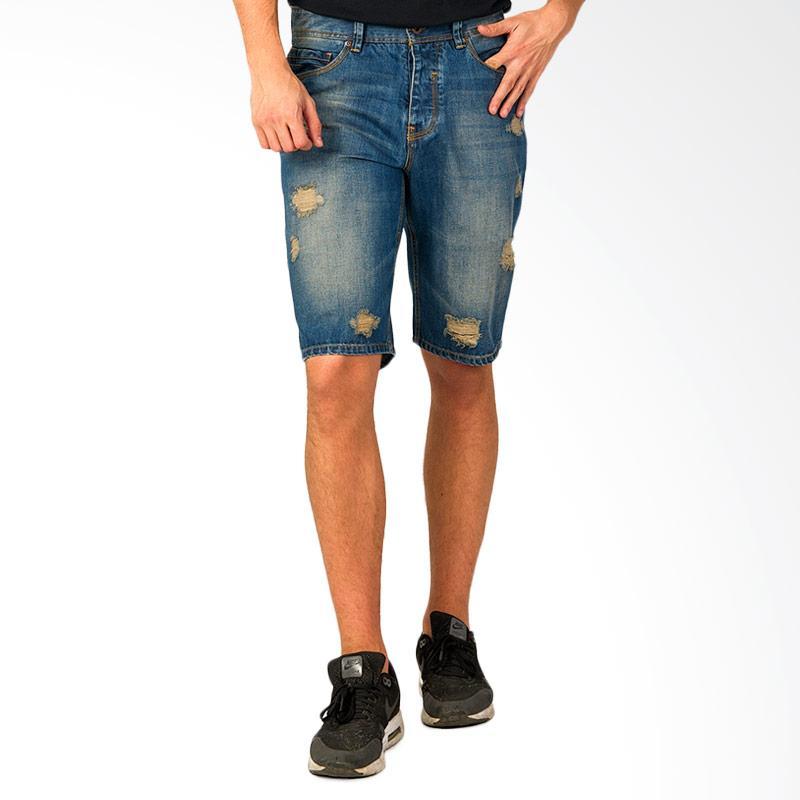 SJO & SIMPAPLY Garstone Men's Shorts Celana Pendek Pria - Blue