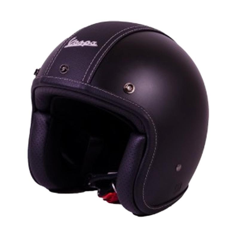 harga Vespa Jet Touch Helm Half Face - Black Matt Blibli.com