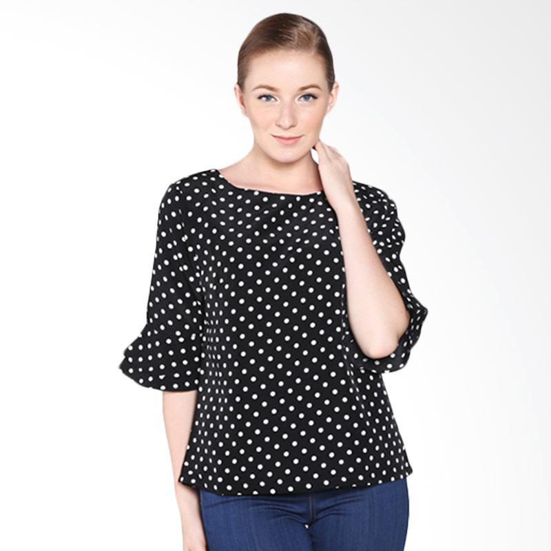 A&D Fashion 7-8 Sleeve MS 2716-547B Blouse - Black