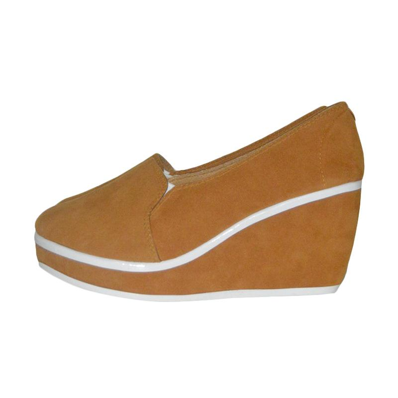 Hawabie Wedges Palmino Sepatu Wanita - Brown