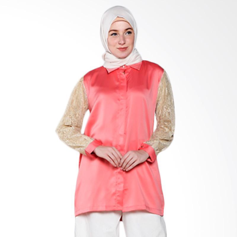 Rauza Rauza Lacey Shirt Atasan Wanita - Pink