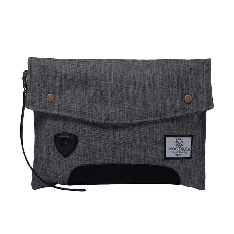 Woodbags Carbon Clutch - Smoke Grey