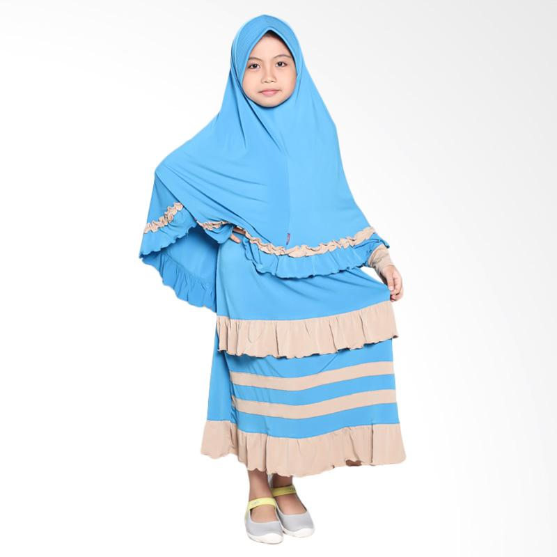 Allev Halima Steak Baju Muslim Anak - Blue