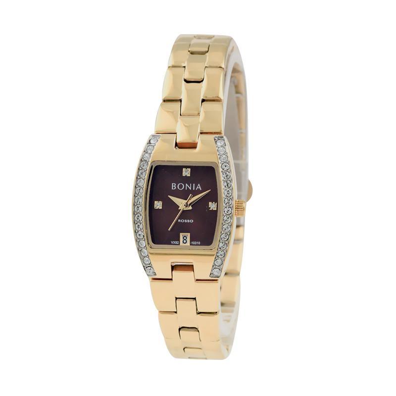 Bonia BN10310-2247S Jam Tangan Wanita Rose Gold Stainless Steel