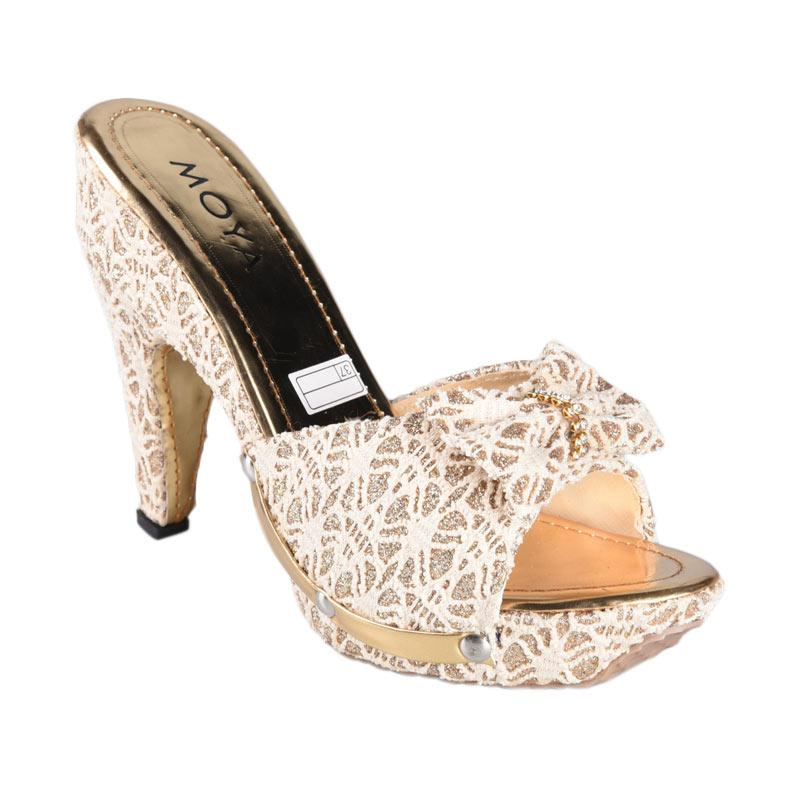Moya Sepatu High Heels Wanita - Cream SN-003