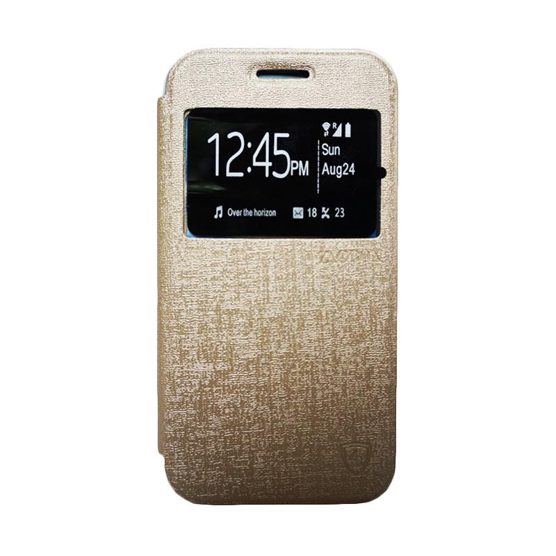 Zagbox Flip Cover Casing for LG G4 Stylus - Gold