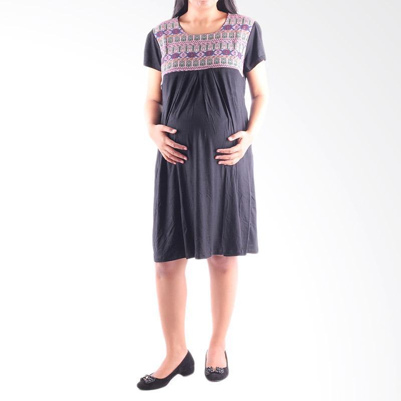 HMILL 1161 Dress Hamil dan Menyusui - Hitam