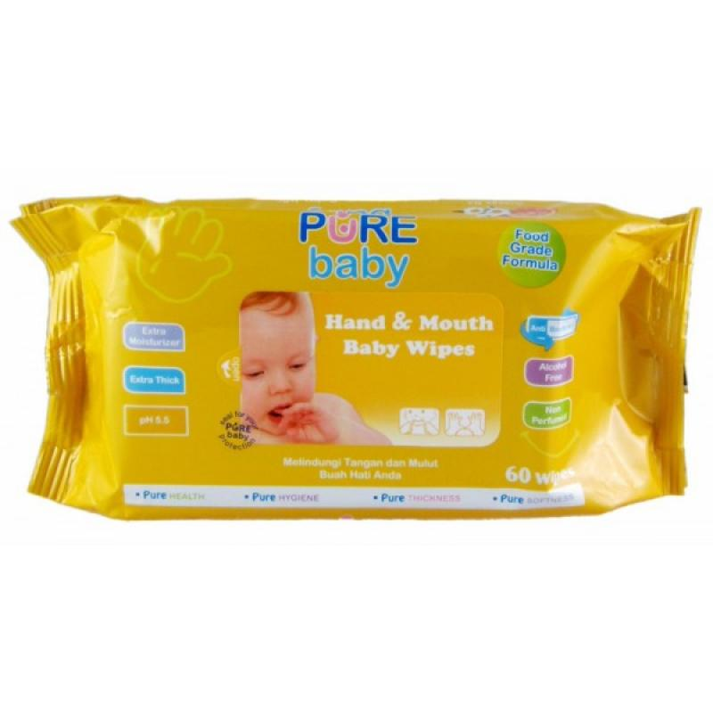 Pure Baby Hand & Mouth Wipes 60 Orange Tissue Basah