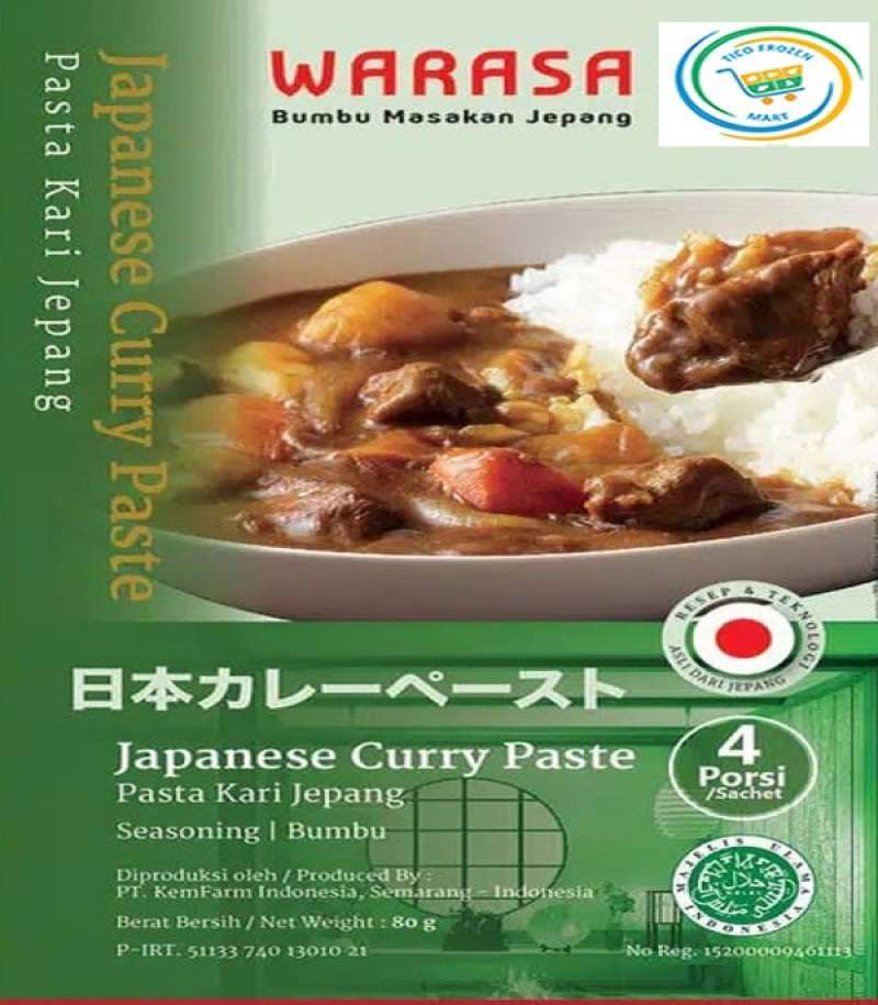 Jual Warasa Japanese Curry Paste Bumbu Kari Jepang 60 Gr 100 Halal No Msg Online Februari 2021 Blibli